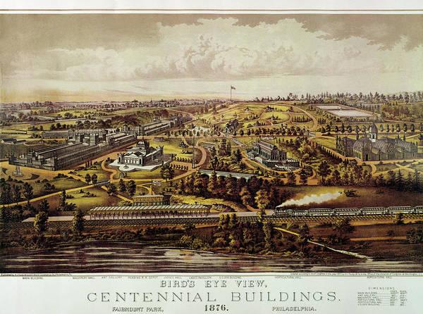 Wall Art - Photograph - Vintage Philadelphia 1876 Centennial Map by Mark Kiver