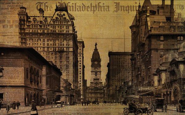 Cityhall Photograph - Vintage Philadelphia by Bill Cannon