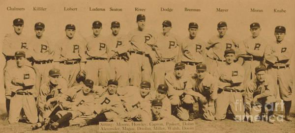 Ball Game Wall Art - Photograph - Vintage Philadelphia Phillies Baseball Card  by American School