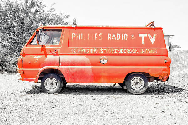 Wall Art - Photograph - Vintage Phillips Radio And Tv Van Nevada by Edward Fielding