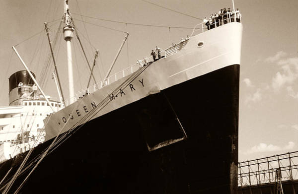 Photograph - Vintage Photo Queen Mary by Marilyn Hunt