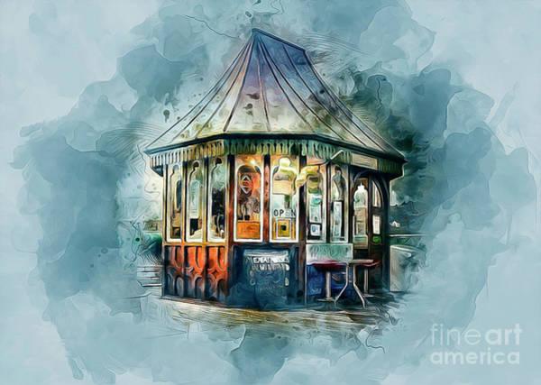 Sunny Mixed Media - Vintage Pier Shop by Ian Mitchell