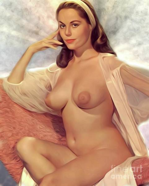 Lesbian Digital Art - Vintage Pinup by Mary Bassett
