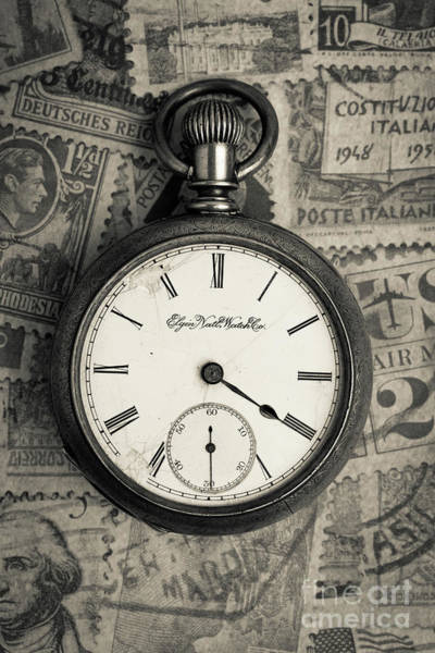 Wall Art - Photograph - Vintage Pocket Watch by Edward Fielding