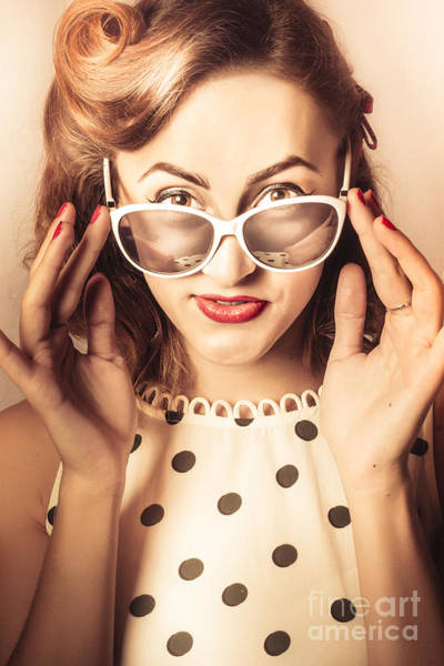 Photograph - Vintage Polka Dot Pin Up Lady by Jorgo Photography - Wall Art Gallery