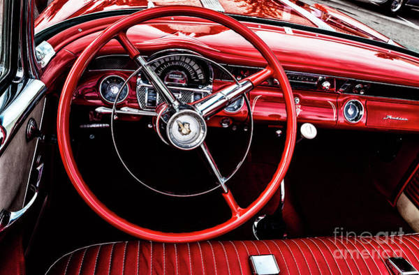Photograph - Vintage Pontiac Dashboard by M G Whittingham