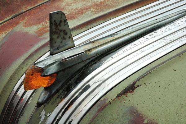 Vintage Hood Ornaments Photograph - Vintage Pontiac Hood Ornament by Jim Hughes