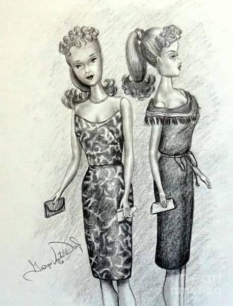 Vintage Ponytail Barbie Art Print