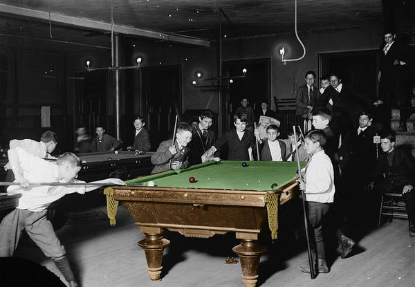 Boys Room Photograph - Vintage Pool Hall by Andrew Fare