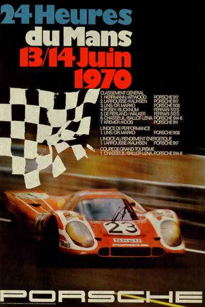 Racing Mixed Media - Vintage Porsche Racing Car Poster by Design Turnpike