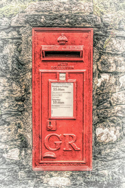 Haweswater Wall Art - Mixed Media - Vintage Post Box by Linsey Williams