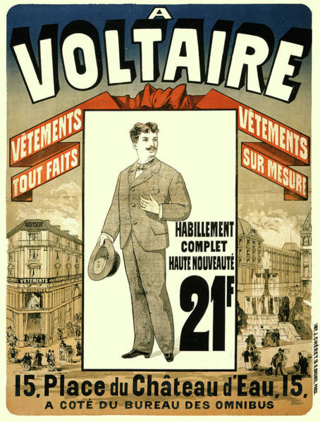 Francaise Painting - Vintage Poster - A Voltaire by Vintage Images