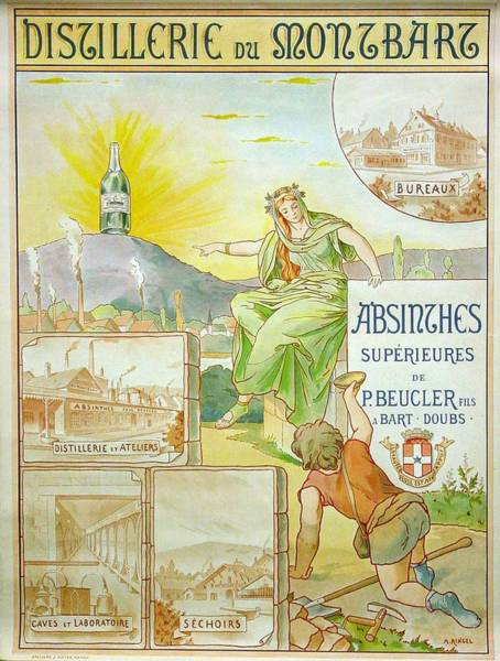 Francaise Painting - Vintage Poster - Absinthe Beucler by Vintage Images