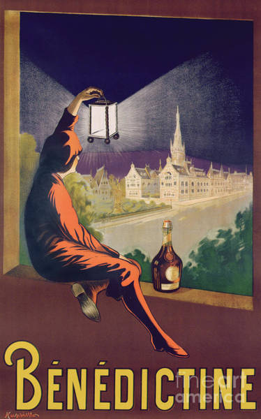 Wall Art - Painting - Vintage Poster Advertising Benedictine Liqueur by Leonetto Cappiello