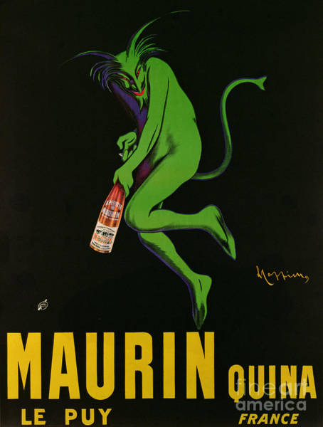 Satan Painting - Vintage Poster Advertising Maurin Quina, Le Puy, France by Leonetto Cappiello
