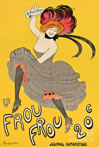 Wall Art - Painting - Vintage Poster Advertising The French Journal Le Frou Frou by Leonetto Cappiello
