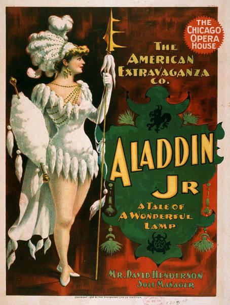Screenprinting Painting - Vintage Poster - Aladdin Jr. by Vintage Images
