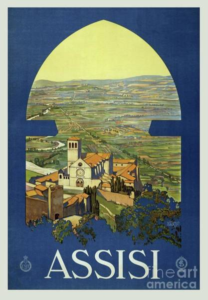 Assisi Painting - Vintage Poster - Assisi by Esoterica Art Agency