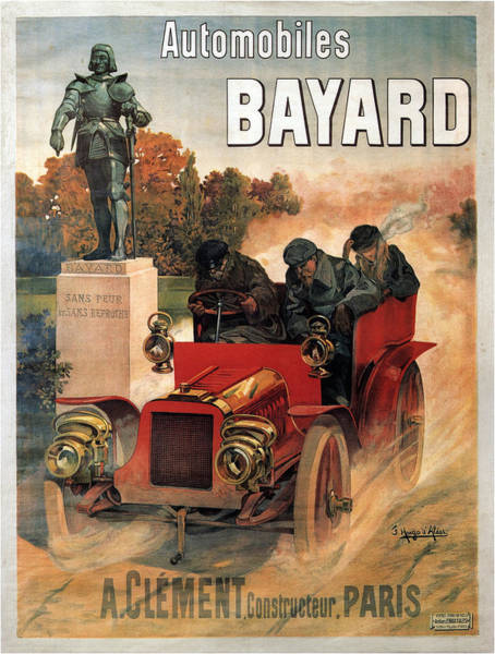 Francaise Painting - Vintage Poster - Automobiles Bayard by Vintage Images