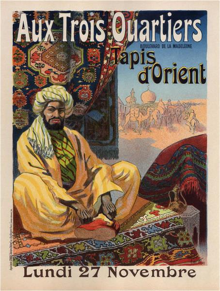 Francaise Painting - Vintage Poster - Aux Trois Quartiers by Vintage Images