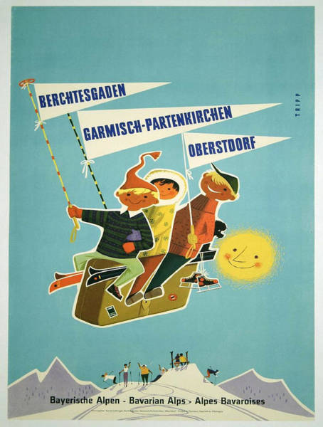 Bavarian Alps Painting - Vintage Poster - Bavarian Alps by Vintage Images