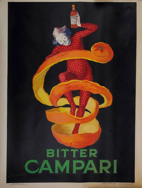 Screenprinting Painting - Vintage Poster - Bitter Campari by Vintage Images
