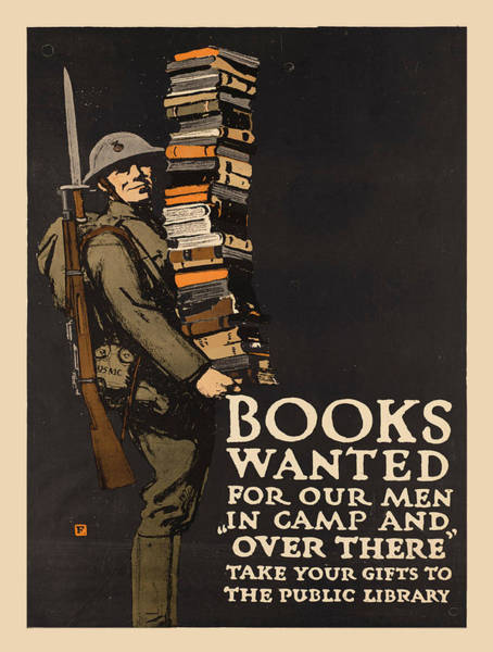 Screenprinting Painting - Vintage Poster - Books Wanted by Vintage Images