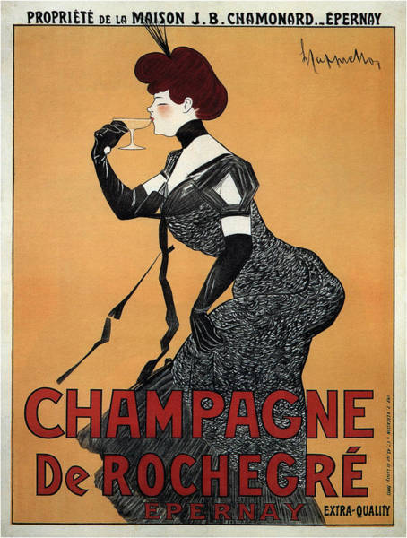 Screenprinting Painting - Vintage Poster - Champagne De Rochegre by Vintage Images