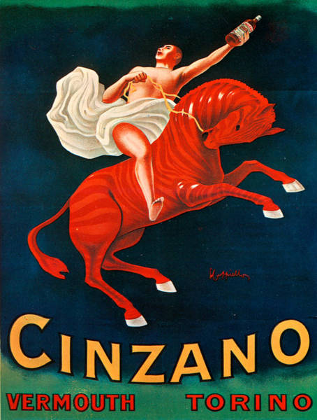 Screenprinting Painting - Vintage Poster - Cinzano Vermouth Torino by Vintage Images