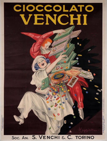 Screenprinting Painting - Vintage Poster - Cioccolato Venchi by Vintage Images