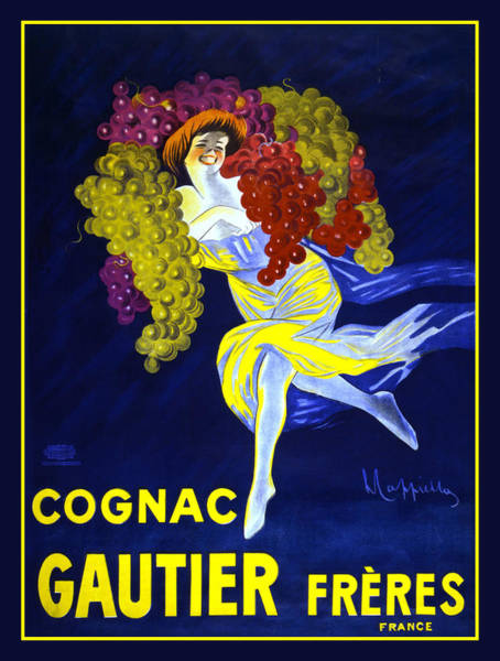 Screenprinting Painting - Vintage Poster - Cognac Gautier Freres by Vintage Images