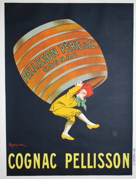 Screenprinting Painting - Vintage Poster - Cognac Pellisson by Vintage Images