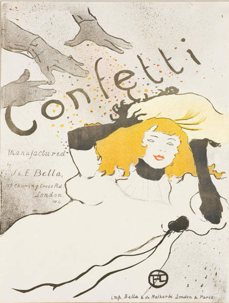 Screenprinting Painting - Vintage Poster - Confetti by Vintage Images