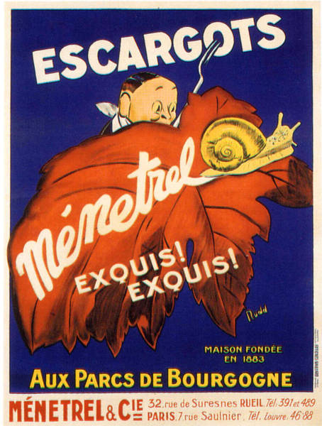 Francaise Painting - Vintage Poster - Escargots by Vintage Images