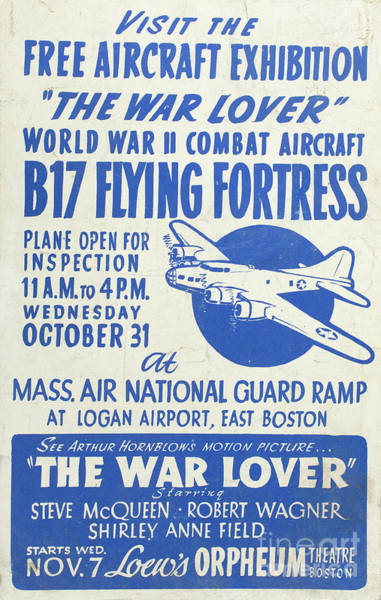 Bomber Photograph - Vintage Poster For The War Lover Aircraft Exhibition by Edward Fielding