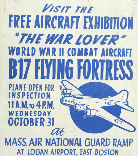 Bomber Photograph - Vintage Poster For The War Lover Aircraft Exhibition II by Edward Fielding