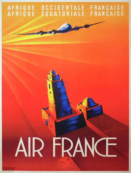 Francaise Painting - Vintage Poster - French West Africa by Vintage Images