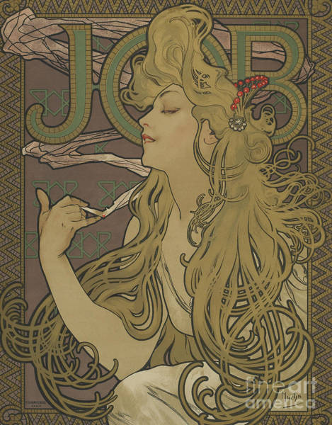 Wall Art - Painting - Vintage Poster Job, 1896 by Alphonse Marie Mucha