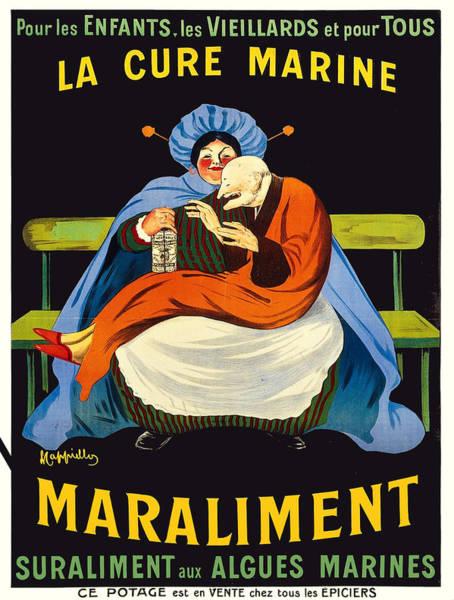 Francaise Painting - Vintage Poster - La Cure Marine Marliament by Vintage Images