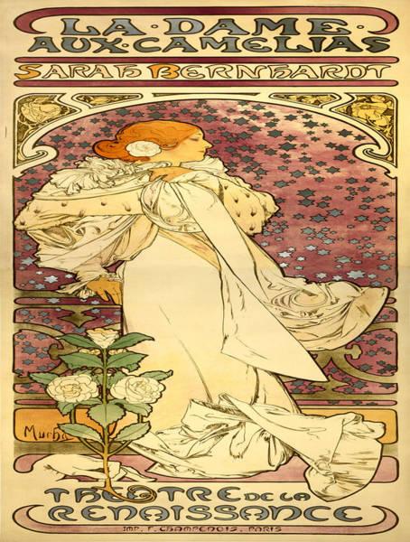 Francaise Painting - Vintage Poster - La Dame Aux Camelias by Vintage Images