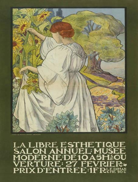 Francaise Painting - Vintage Poster - La Libre Esthetique by Vintage Images