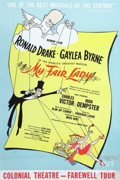 Photograph - Vintage Poster My Fair Lady by Edward Fielding