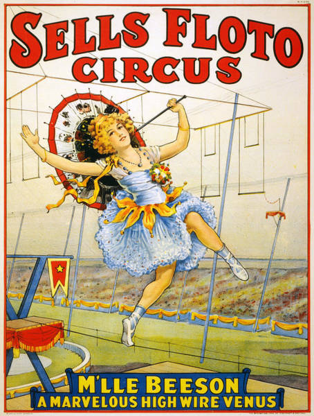 Francaise Painting - Vintage Poster - Sells Floto Circus by Vintage Images