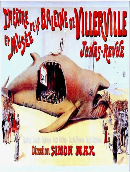 Francaise Painting - Vintage Poster - Theatre De La Baleine De Villerville by Vintage Images
