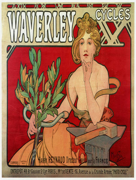 Francaise Painting - Vintage Poster - Waverley Cycles by Vintage Images