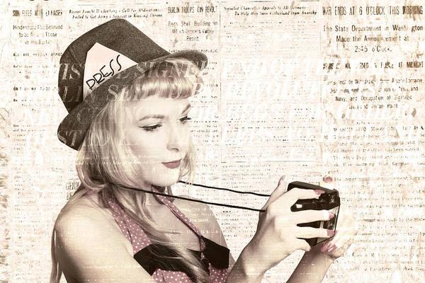 Tabloids Photograph - Vintage Press Photographer by Jorgo Photography - Wall Art Gallery