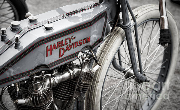 Photograph - Vintage Racing Harley by Tim Gainey
