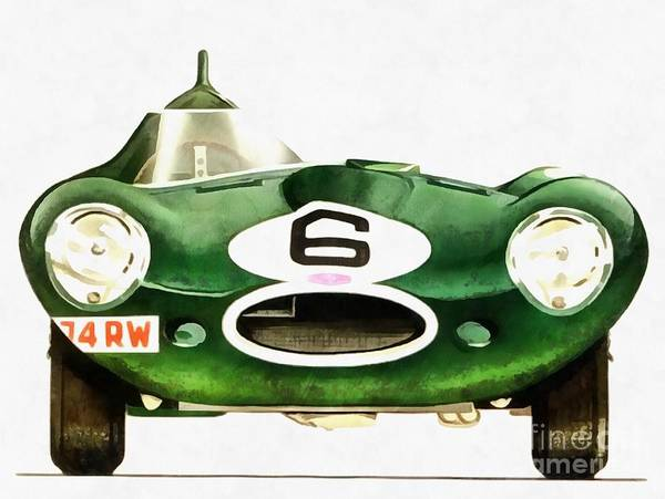 Wall Art - Painting - Vintage Racing Jag by Edward Fielding