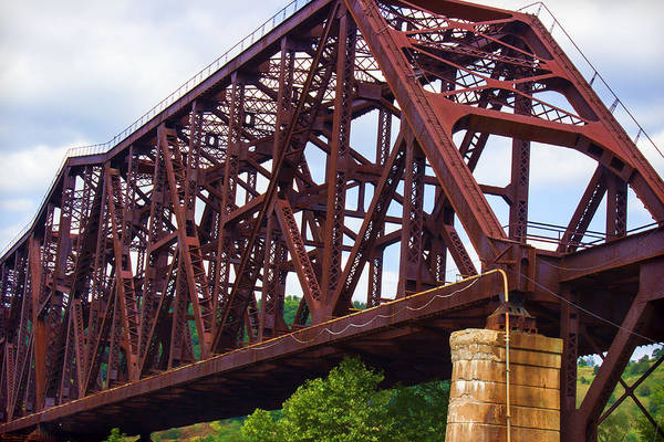 Photograph - Vintage Railroad Bridge by Roberta Byram