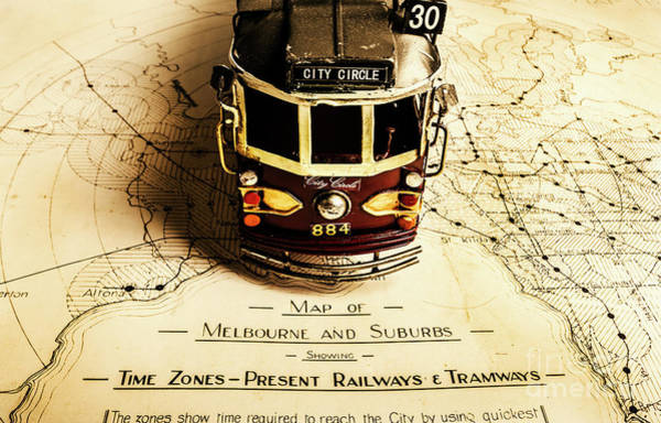 Map Photograph - Vintage Railways And Tramways by Jorgo Photography - Wall Art Gallery